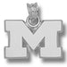 University of Michigan M Silver Pendant