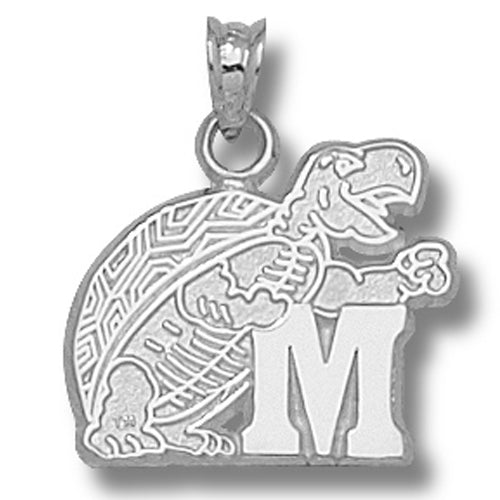 University of Maryland Terrapin M Silver Pendant