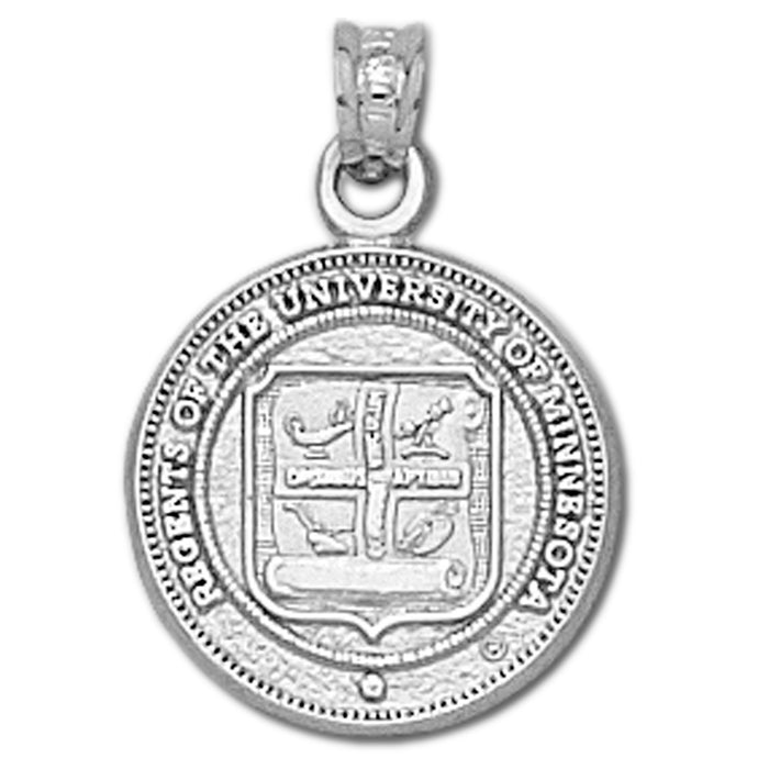 University of Minnesota Seal Silver Pendant