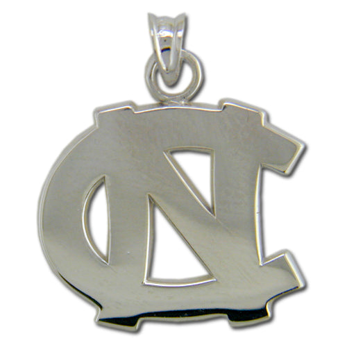 University of North Carolina NC Large Silver Pendant