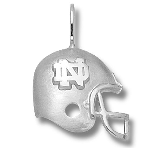 University of Notre Dame ND HELMET Silver Pendant