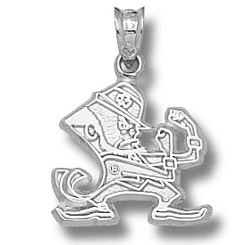 University of Notre Dame LEPRECHAUN Small Silver Pendant