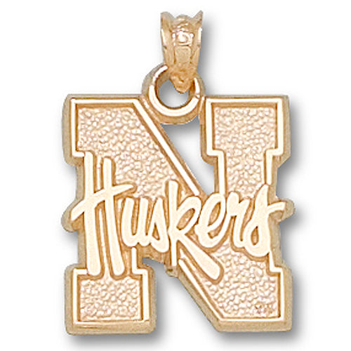 University of Nebraska N Huskers 10 kt Gold Pendant