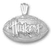 University of Nebraska Huskers Football Silver Pendant