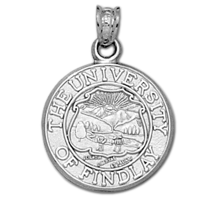 University of Findley Seal Silver Pendant