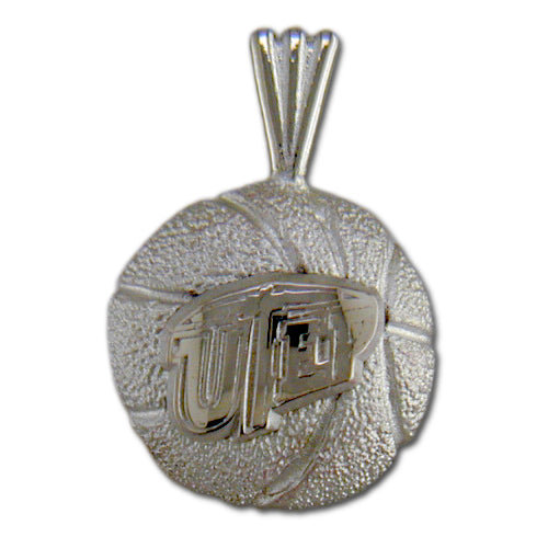 University of Texas El Paso Basketball Silver Pendant