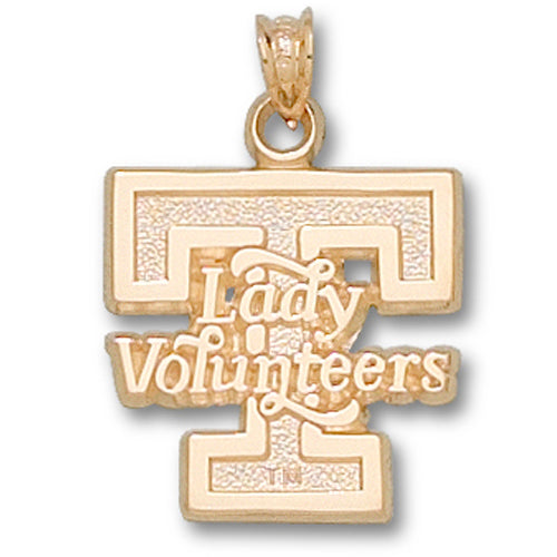 University of Tennessee LADY VOLS T 14 kt Gold Pendant