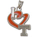 University of Tennessee I HEART T with ENAMEL Silver Pendant