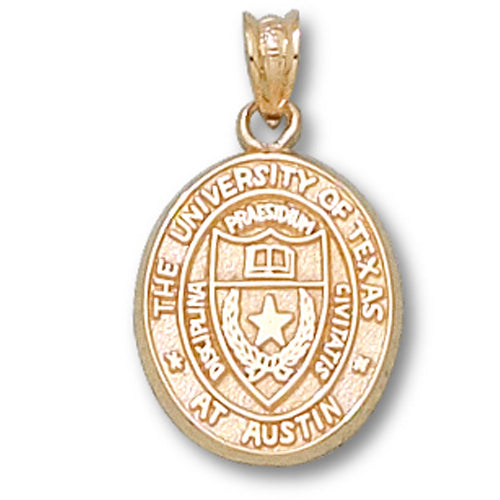 University of Texas Oval Seal 10 kt Gold Pendant