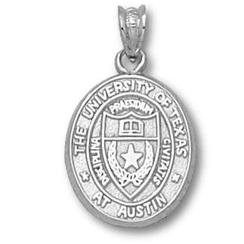 University of Texas Oval Seal Silver Pendant