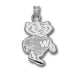 University of Wisconsin Bucky Badger Silver Small Pendant