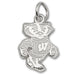 University of Wisconsin Bucky Badger Silver XS Pendant