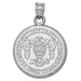 Washington College Seal Silver Pendant