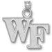 Wake Forest University WF Silver Pendant