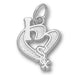 Chicago White Sox I Heart Logo Small Pendant
