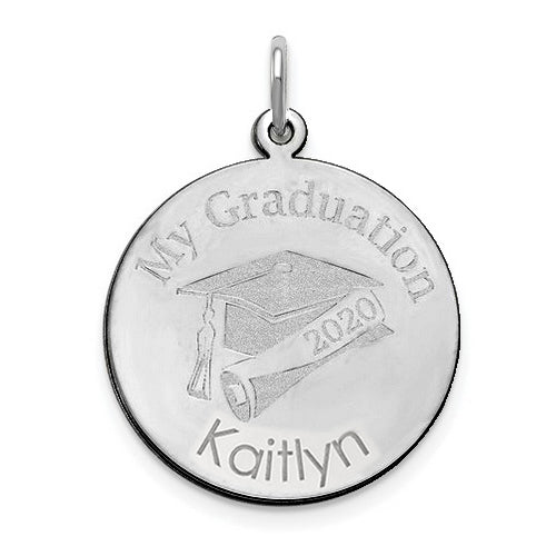 My Graduation Personalized Pendant - 14 kt Gold