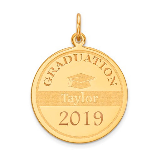 Graduation Personalized Pendant - 14 kt Gold