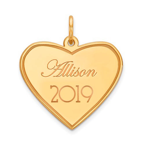 Heart Personalized Name/Year Pendant