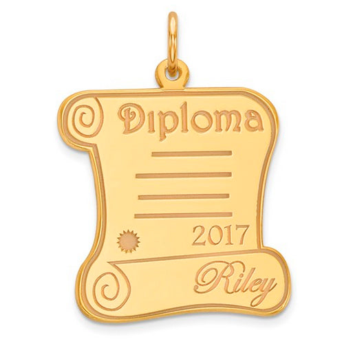 Diploma Personalized Name/Year Pendant