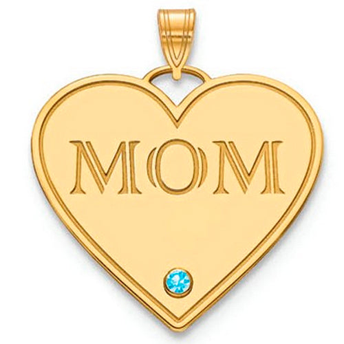 Mom Pendants with birthstone - Large