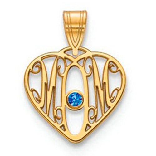 Mom Pendants with birthstone - Small