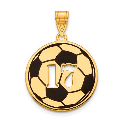 GP Epoxied Soccer Ball Charm with Number