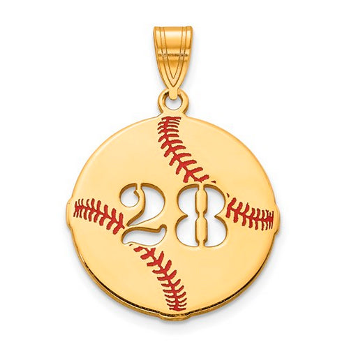 GP Epoxied Baseball Charm with Number