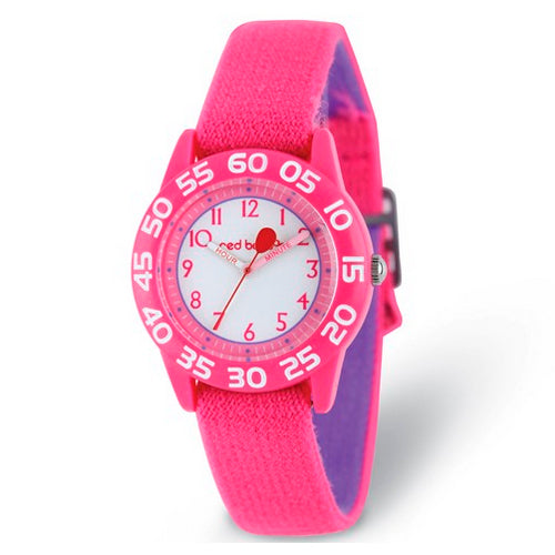 Red Balloon Kids Pink Strap Time Teacher Watch