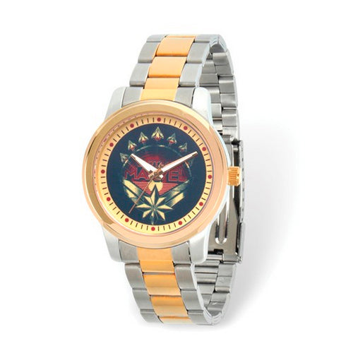 Marvel Adult Captain Marvel Two-tone Watch