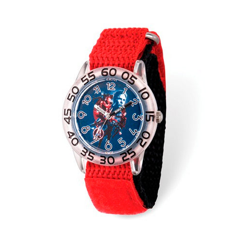 Marvel Kids Avengers Time Teacher Red Nylon Watch