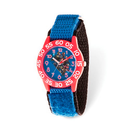 Marvel Kids Avengers Time Teacher Blue Nylon Watch