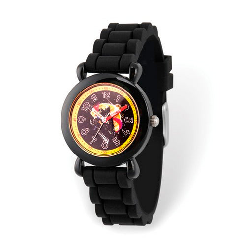 Marvel Kids Avengers Time Teacher Black Silicone Watch