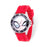 Marvel Spider-Man Mens Stainless Steel Black Bezel Red Silicone Watch