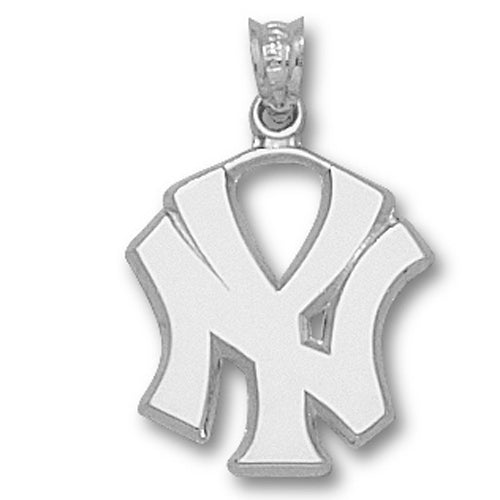 New York Yankees NY Silver Pendant