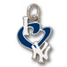 New York Yankees I Heart Logo with enamel Small Pendant
