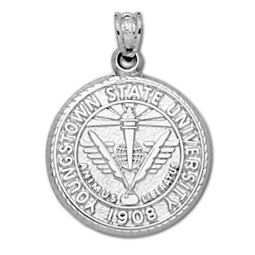 Youngstown State University Seal Silver Pendant
