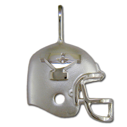 Youngstown State University Y HELMET Silver Pendant