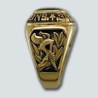 Purdue University Men's Large Classic Ring - Right Side