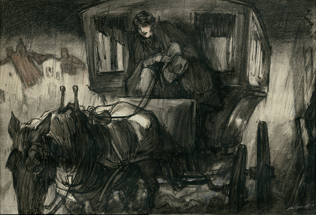 Raleigh, Henry: Illustration of Young Woman Driving a Coach