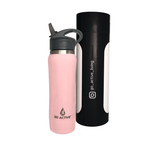 Insulated Water Bottle with Straw - 24oz. Chinook Pink