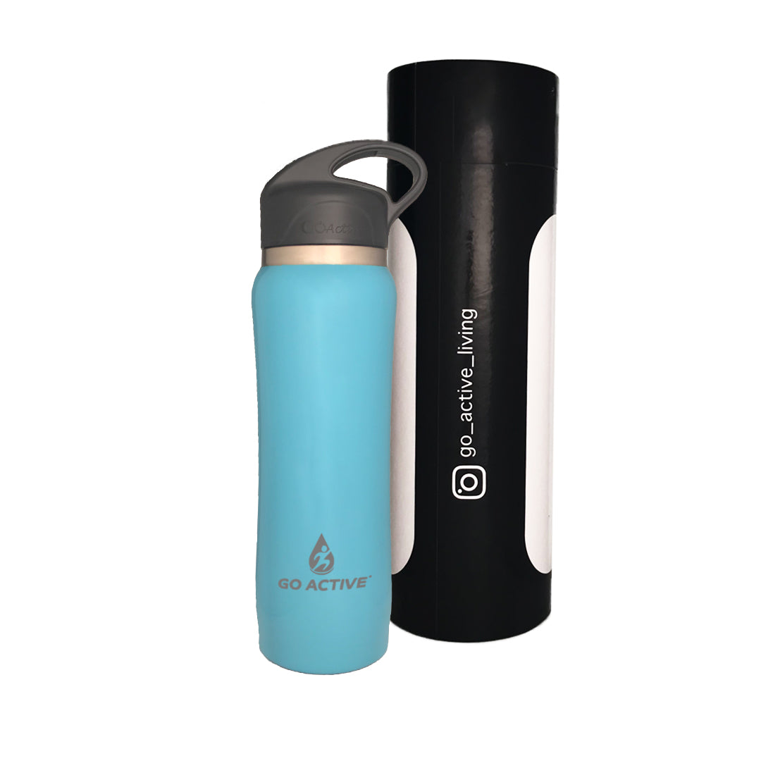 Insulated Water Bottle with Straw - 24oz. Dolphin Blue