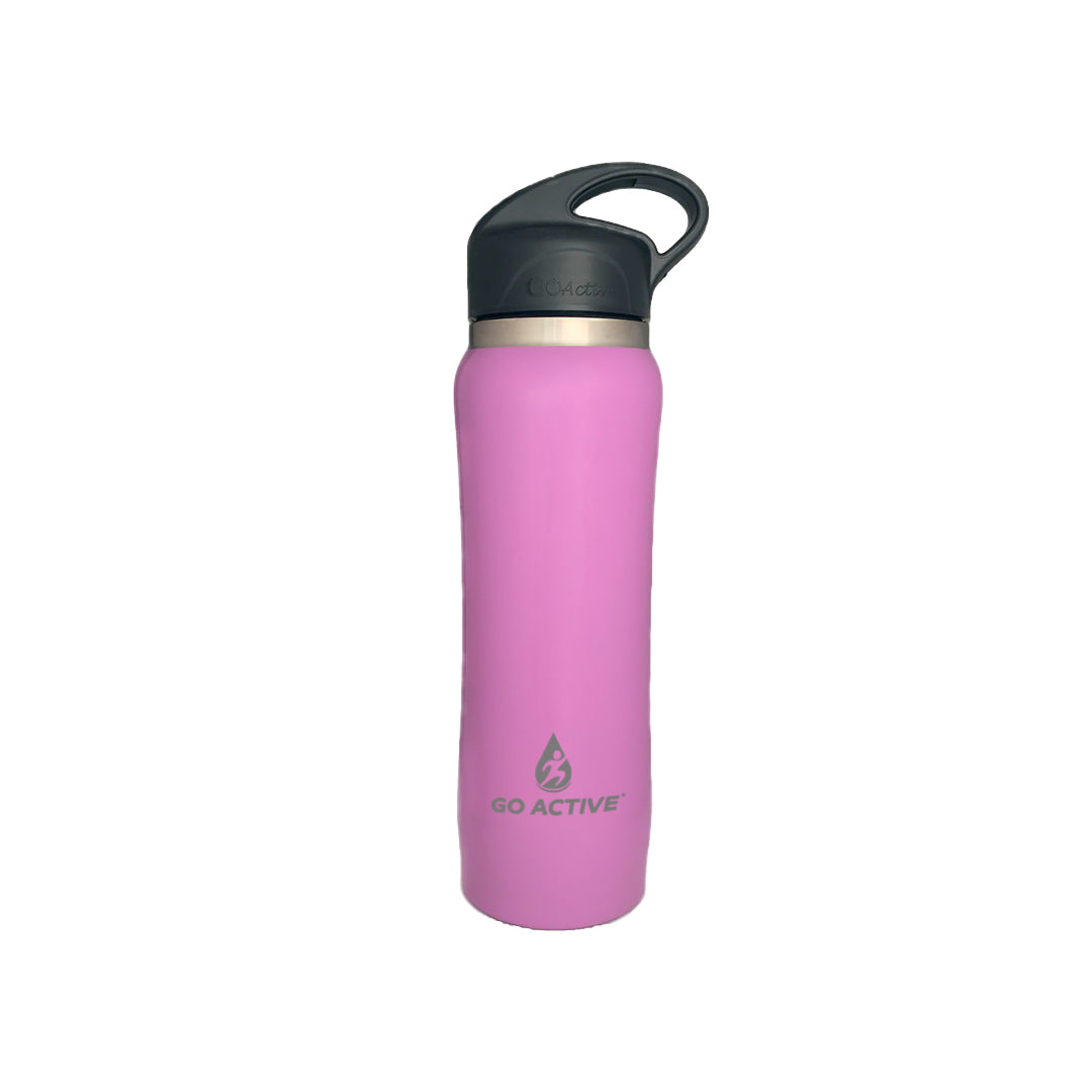 Insulated Water Bottle with Straw - 24oz. Purple Sea Star