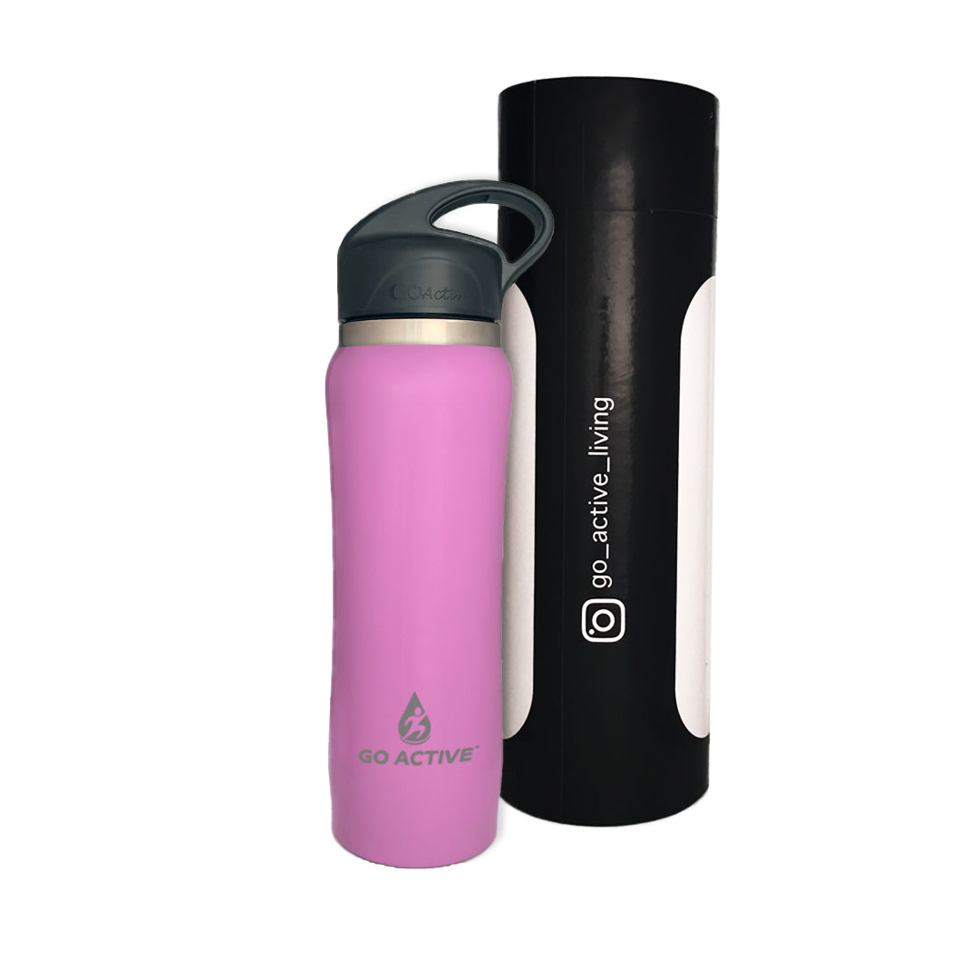 Insulated Water Bottle with Straw - 16oz. Purple Sea Star