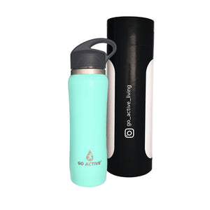Insulated Water Bottle with Straw - 24oz. Sea Turtle Green