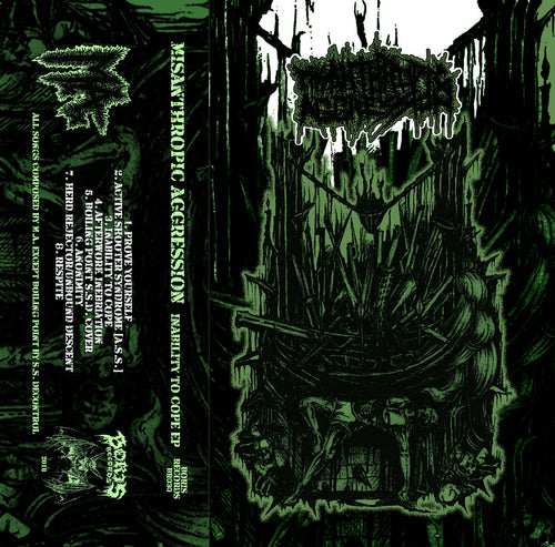 Misanthropic Aggression ‎– Inability To Cope cassette