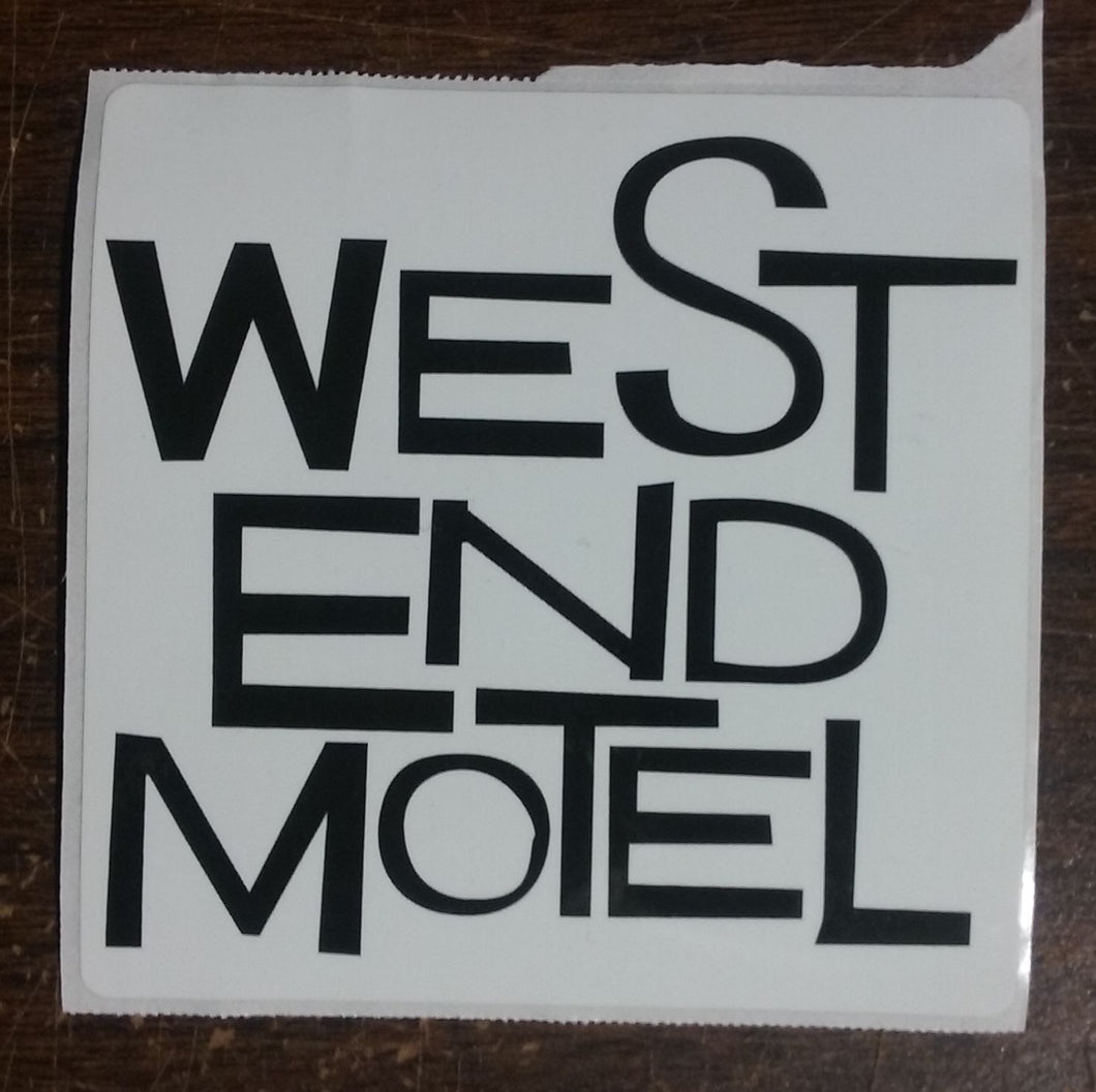 West End Motel sticker