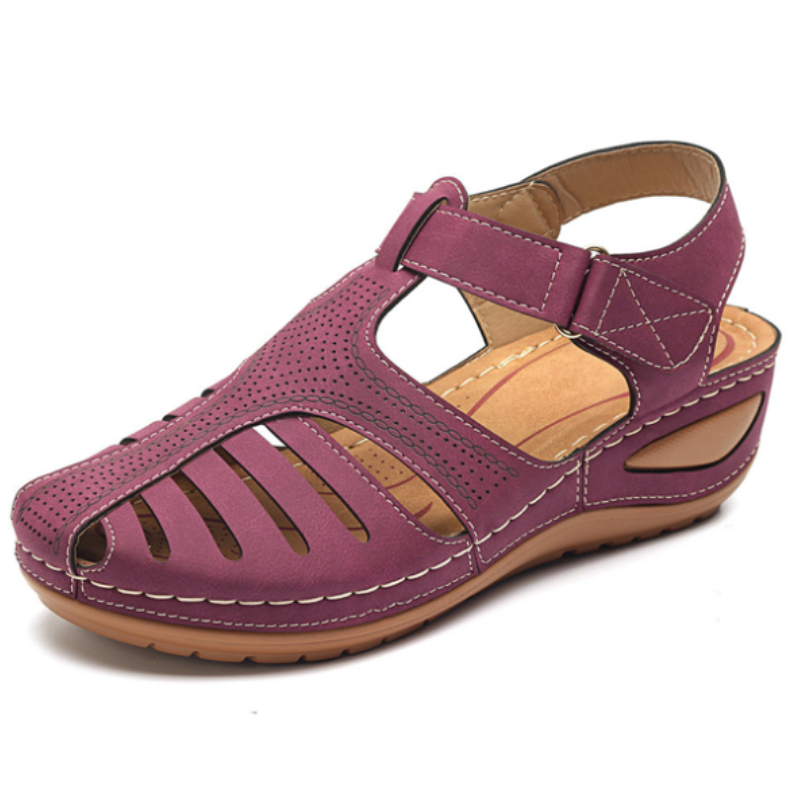 Lightweight Hook Loop Wedges Sandals