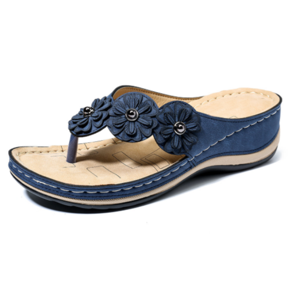Flower Clip Toe Beach Sandals