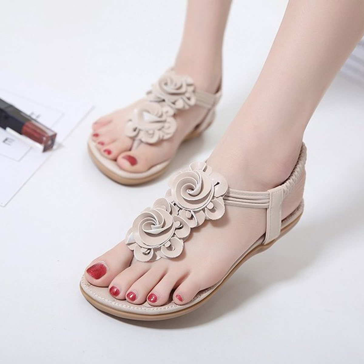 Flower Casual Beach Female Flat Sandals