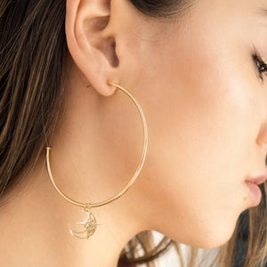 Celestial Charm Hoop earrings